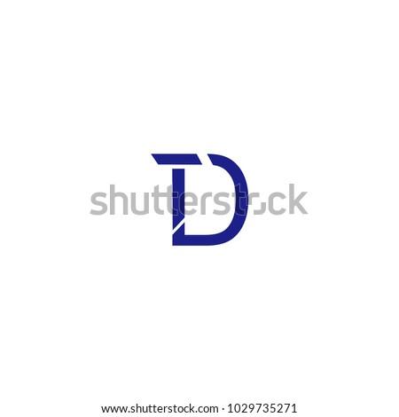 Td Letter Logo Vector Symbol Stock Vector 1029735271 Shutterstock