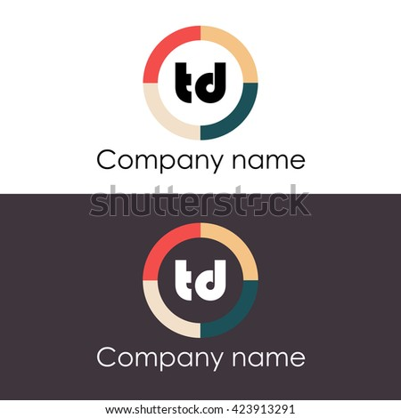 Td Letters Business Logo Icon Design Stock Vector 423913291