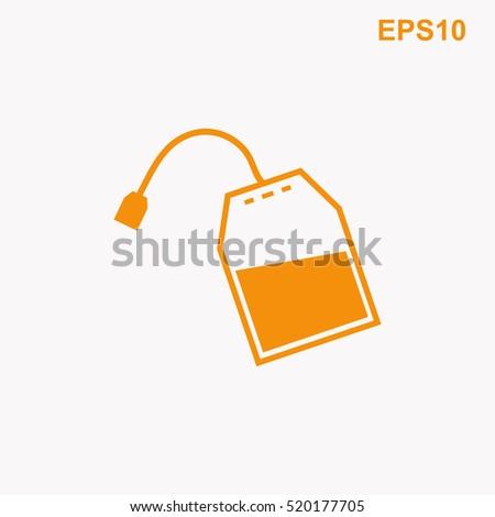 tea bag vector icon stock vector 520177705 - shutterstock