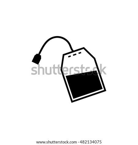 tea bag vector icon stock vector 590636189 - shutterstock