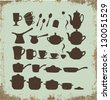 Tea, coffee ans pot sets - stock vector