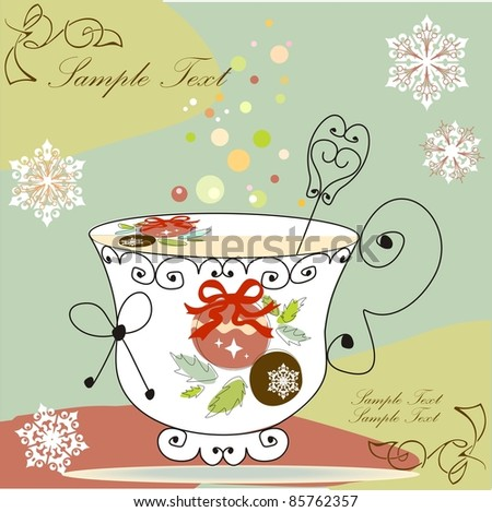 Tea cup - stock vector
