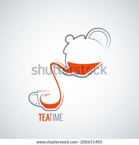 tea cup design background - stock vector