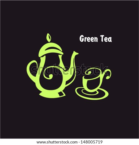 tea icon - stock vector