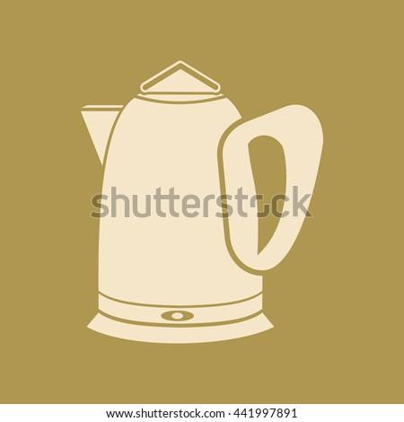 Tea Kettle Icon.  - stock vector
