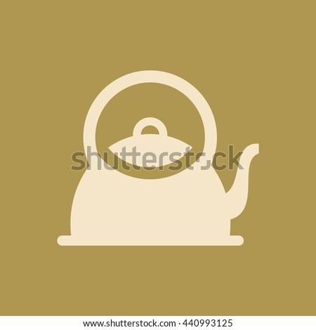 Tea Kettle Icon. Eps-10. - stock vector