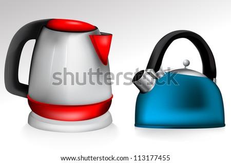 Tea Kettle set - stock vector