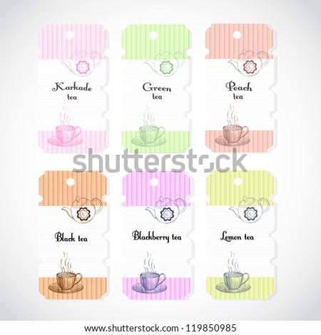 tea label - stock vector