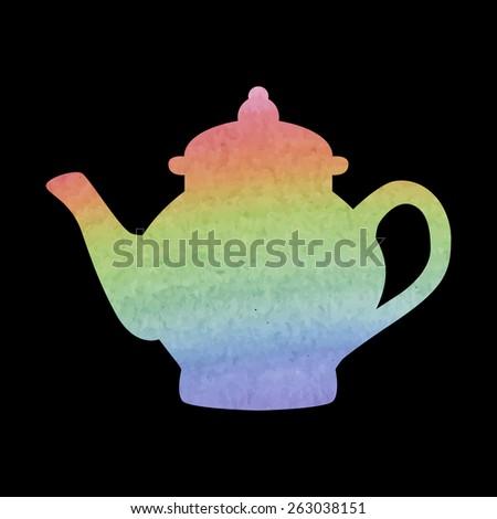 Tea maker. Vector illustration. Watercolor effect - stock vector