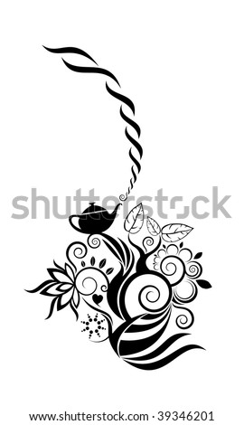Tea motive vector design