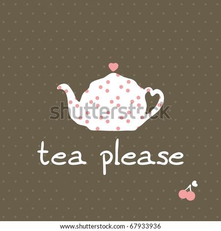 tea please - stock vector
