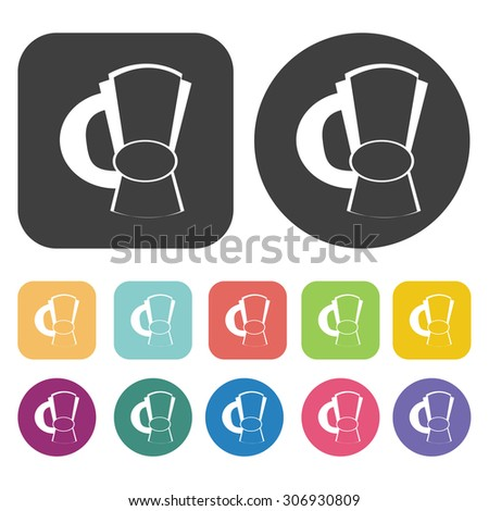 Tea pot icons set. Vector Illustration eps10