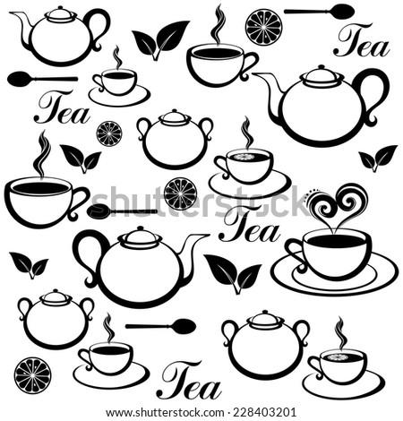 Tea seamless pattern.  Vector Illustration - stock vector