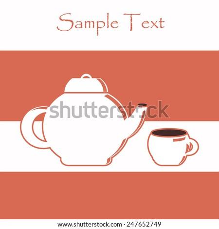 Tea time  - stock vector