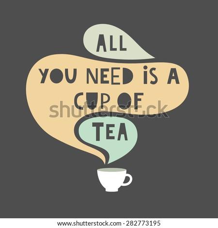 tea time card design. vector illustration - stock vector
