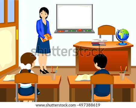 classroom cartoon stock images royaltyfree images