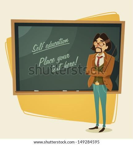 Teacher character. Vector illustration. - stock vector
