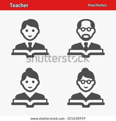 Teacher Icons. Professional, pixel perfect icons optimized for both large and small resolutions. EPS 8 format. - stock vector