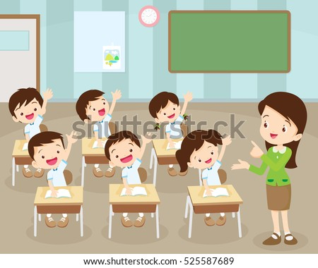 Classroom stock images royalty free images vectors - One of your students left their book on the table ...