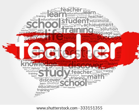 TEACHER Think Bubble word cloud, business concept - stock vector