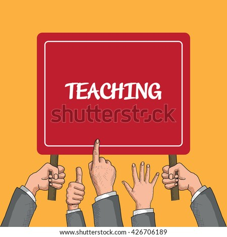 Teaching - stock vector
