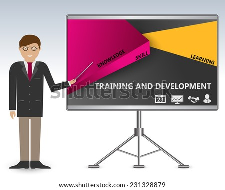Teaching and manager training business development - stock vector
