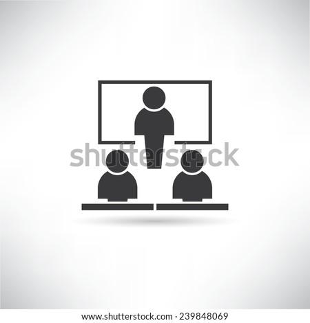 teaching, training room - stock vector