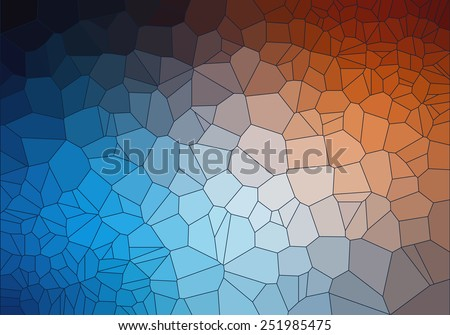 teal and Orange 2D geometric abstract background - Illustration for web - stock vector