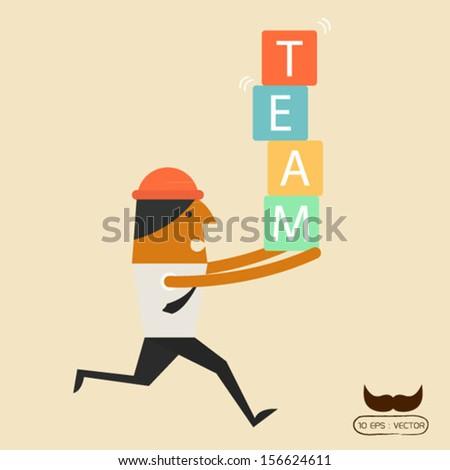 Team - stock vector