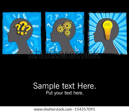 Team Brainstorming, idea, concept. - stock vector