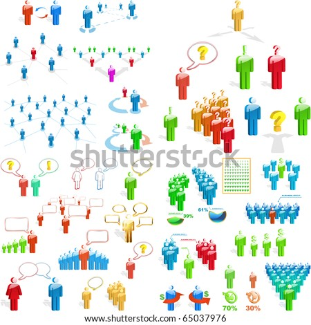 Team business concept. Great collection. - stock vector