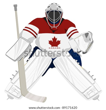 Team Canada hockey goalie