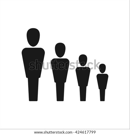 Team hierarchy sign simple icon on  background - stock vector