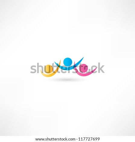 team icon. - stock vector