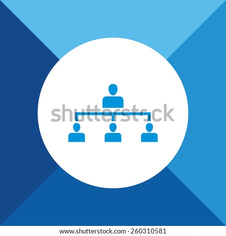 Team Icon on Blue Background. Eps-10. - stock vector
