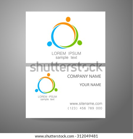Team logo - design template. The concept of the sign company. Business presentation. - stock vector
