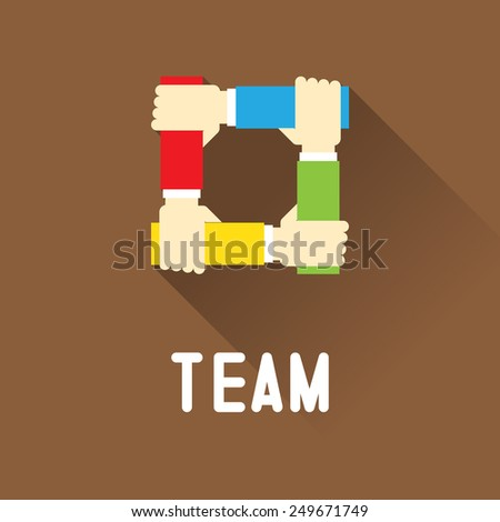 Team symbol - stock vector