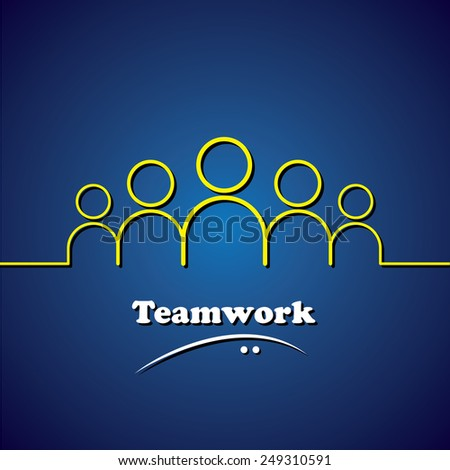 team, teamwork, leader & leadership vector concept graphic. This icon also represents unity, solidarity, involvement, integrity - stock vector