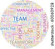TEAM. Word collage on white background. Illustration with different association terms. - stock photo