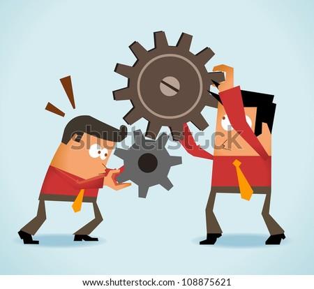 Team Work - stock vector