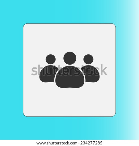 Team work  icon. Office workers and business team. - stock vector