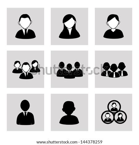 team work over gray background vector illustration - stock vector