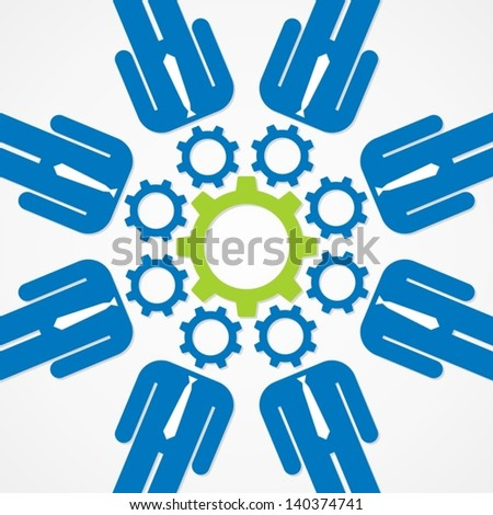teamwork - stock vector