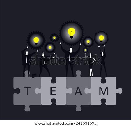 Teamwork - stock vector