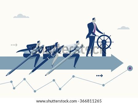 Teamwork. Business concept - stock vector