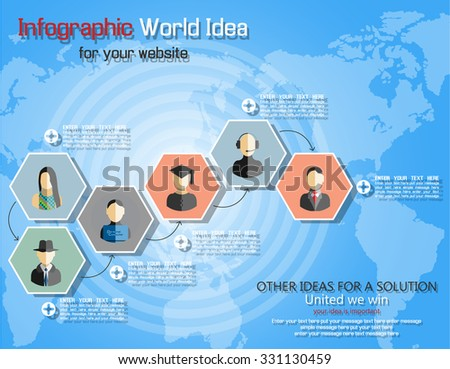 TEAMWORK COMMUNICATION CONCEPT ART PEOPLE FLAT STYLE WORLD IDEAS TIMELINE - stock vector