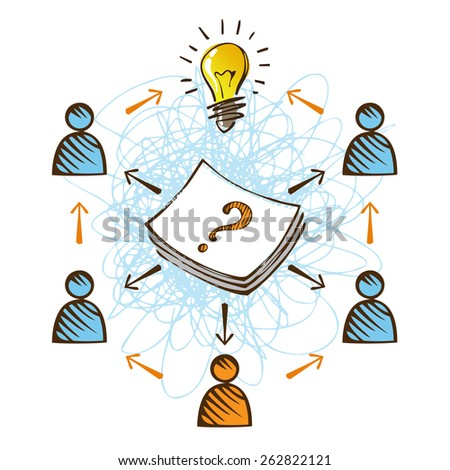 Teamwork concept. - stock vector