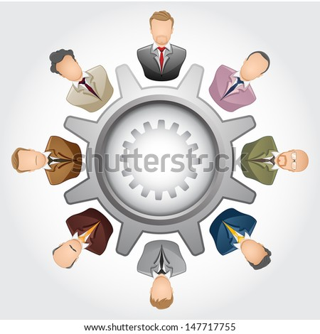 Teamwork Concept : Group of businessman - stock vector