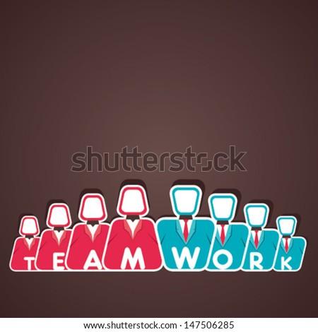 teamwork concept men and women vector - stock vector