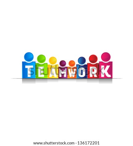 Teamwork concept word - stock vector